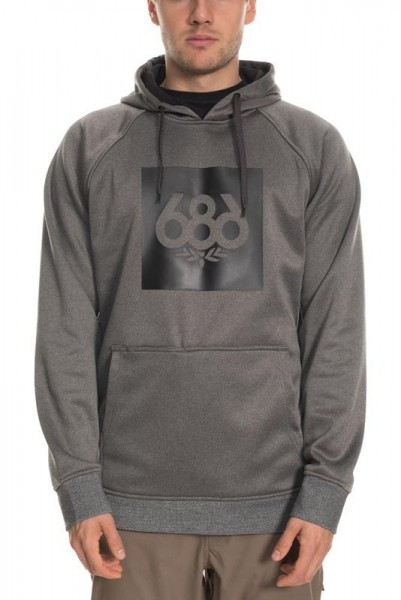 686 Knockout Bonded Fleece Pullover charcoal