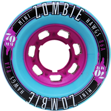 Hawgs Longboard Wheels Mini Zombies 86A 70mm - Turquoise