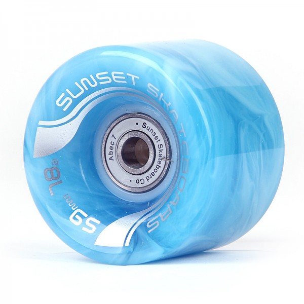 Sunset LED Special Cruiser Wheels Blue Swirl 59mm 78a