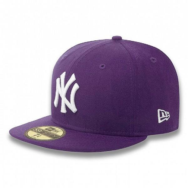 New Era Cap 59-Fifty New York Basic purple/white