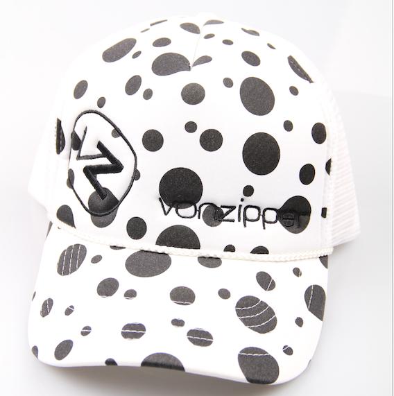 Vonzipper Trucker Cap Moby Dots White