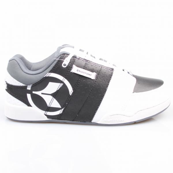 Kustom Schuhe Kontage white/black