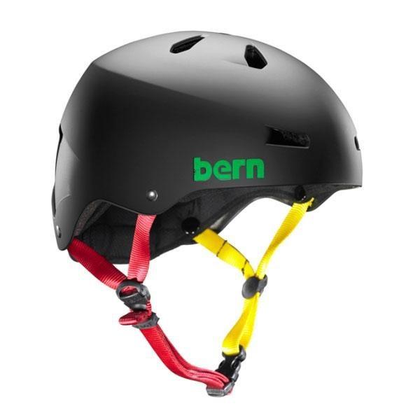 Bern Helm Macon Matte Black Rasta (Summer Liner)