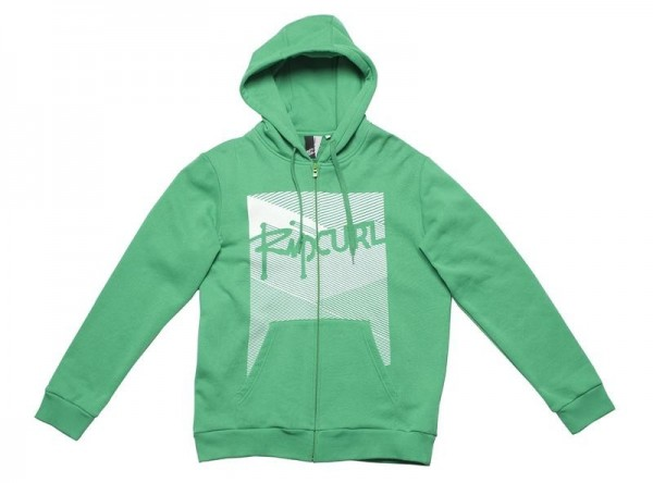 Rip Curl Zip-Hooded Some Lime bright green