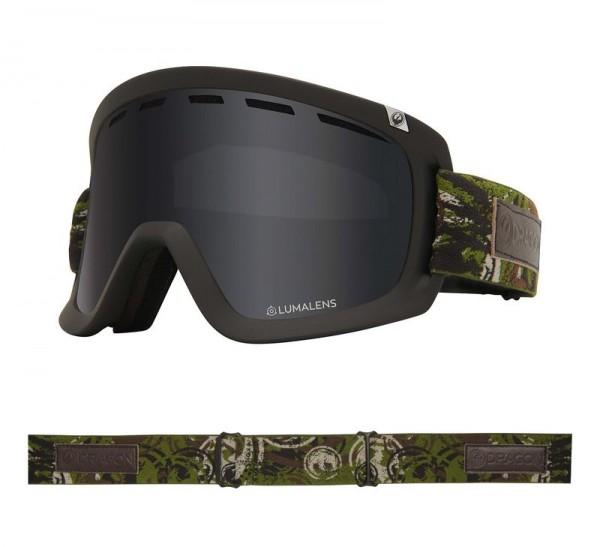 Dragon Goggle D1 OTG Icon Camo with Lumalens Dark Smoke + Lumalens Rose Lens