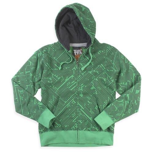 Fox Hooded Zipper Geo green