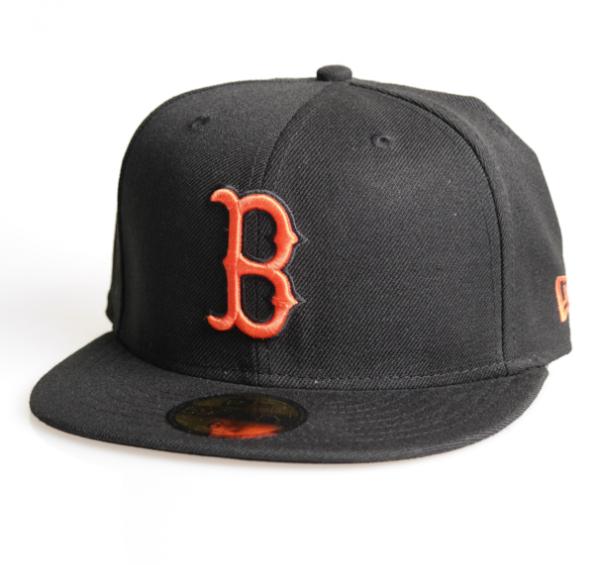 New Era Cap 59-Fifty Basic Boston Red Sox black/orange
