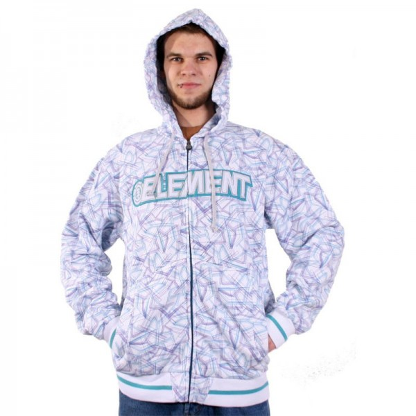 Element Zip-Hooded Refraction white