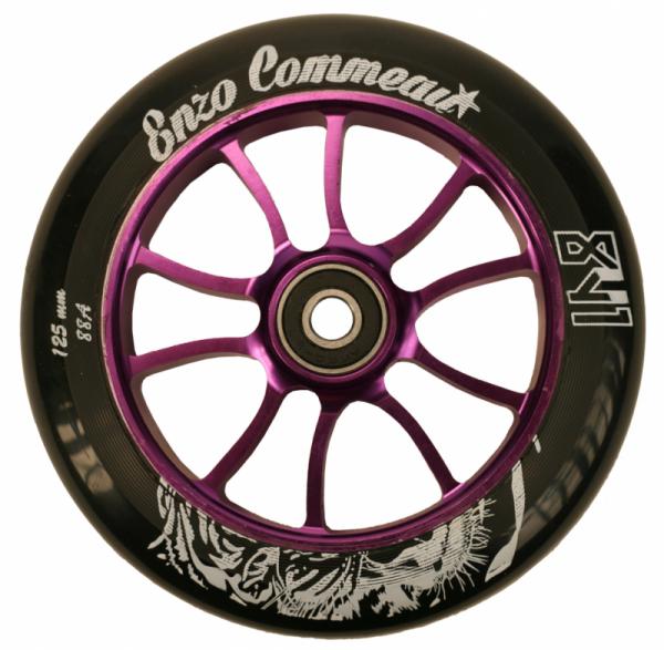841 Scooter Wheel Enzo 125mm Purple inkl Titen Abec 9 Bearings