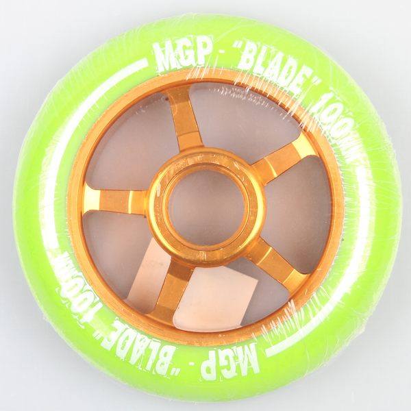 Madd Gear Scooter Wheel Blade 100mm Green/Gold inkl Abec 5 Bearing