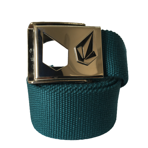 Volcom Web Belt Slightly Removed Blue Green
