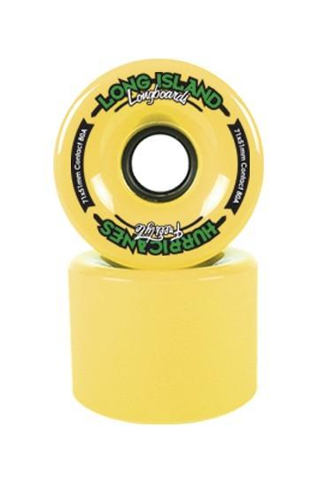 "Long Island Longboard Wheels ""Freestyle Hurricanes"" 71mm 83a - Yellow"