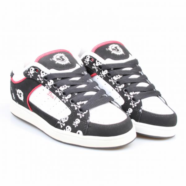 DVS Schuhe Sapphire Black/White Nubuck Skull *Ladys*