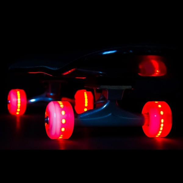 Sunset Skateboard Co. Red LED Skateboard Wheels 54mm 90a