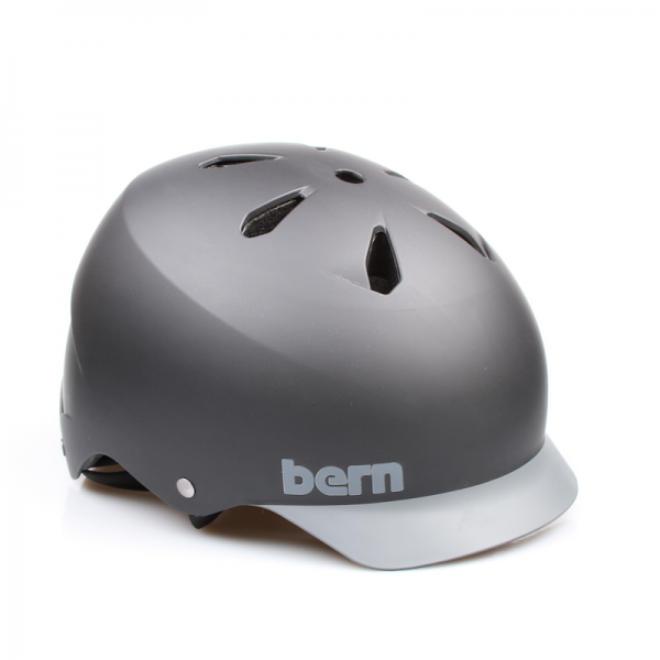Bern Helm Watts Matte Black/Grey Brim (Summer Liner)