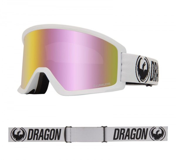 Dragon Goggle DX3 OTG White with Lumalens Pink Ionized Lens