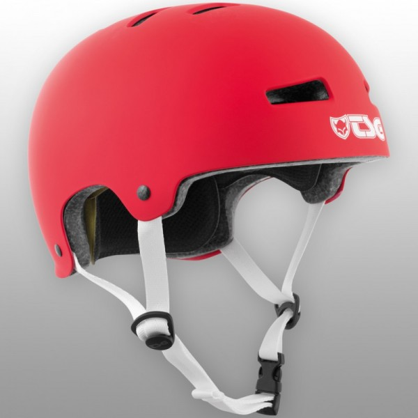 TSG Helm Evolution Solid Colors Satin Fire Red