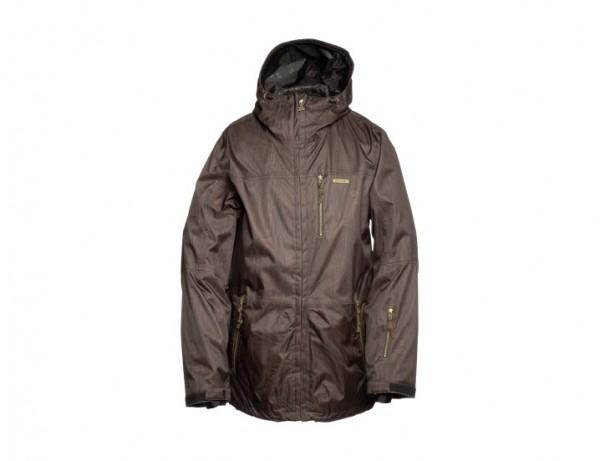 Zimtstern Snow Jacket Hawk Herringbone Wood