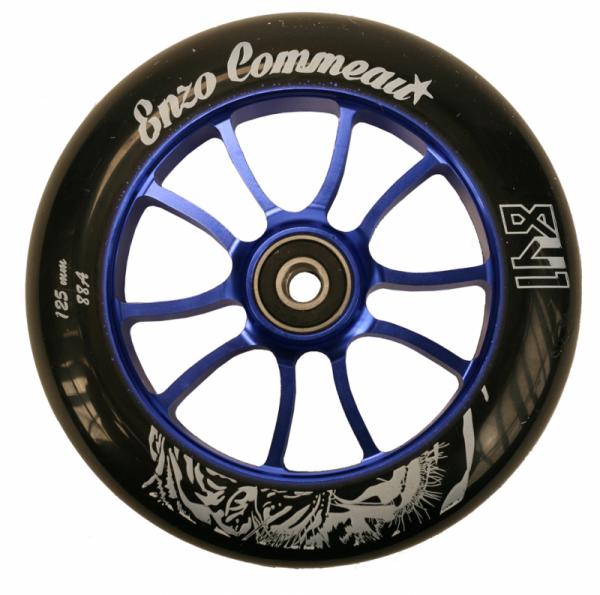 841 Scooter Wheel Enzo 125mm Blue inkl Titen Abec 9 Bearings