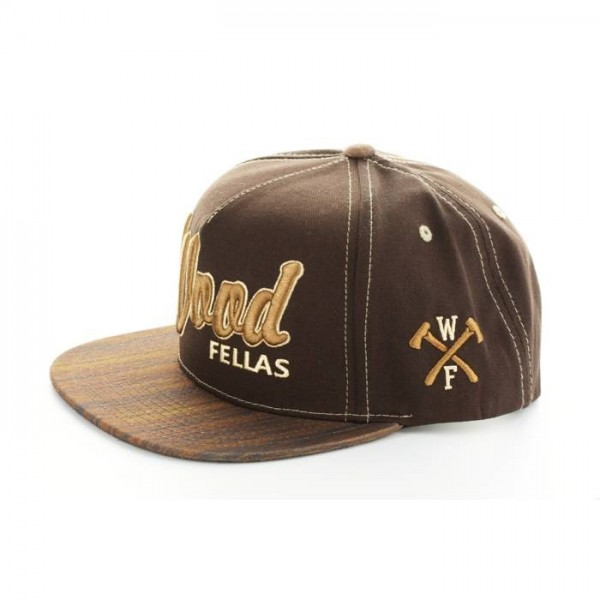 Wood Fellas Snapback Da Wood brown