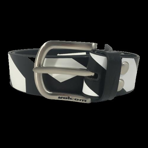 Volcom Leather Belt Frizzo Black/White