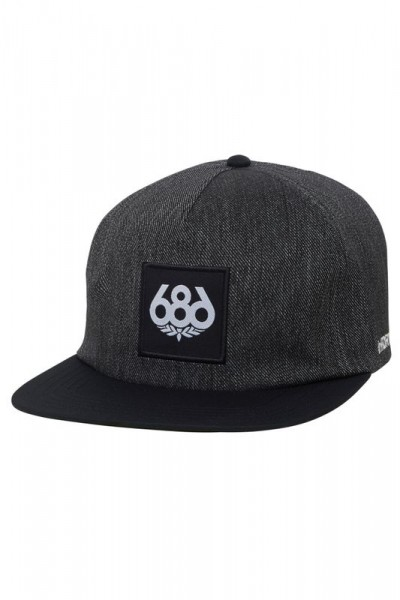 686 Knockout Snapback black denim