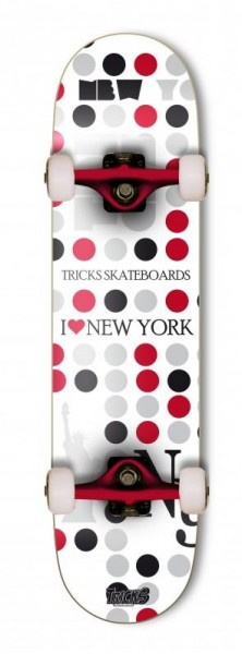 Tricks Complete Skateboard 8.0 NY High Concave