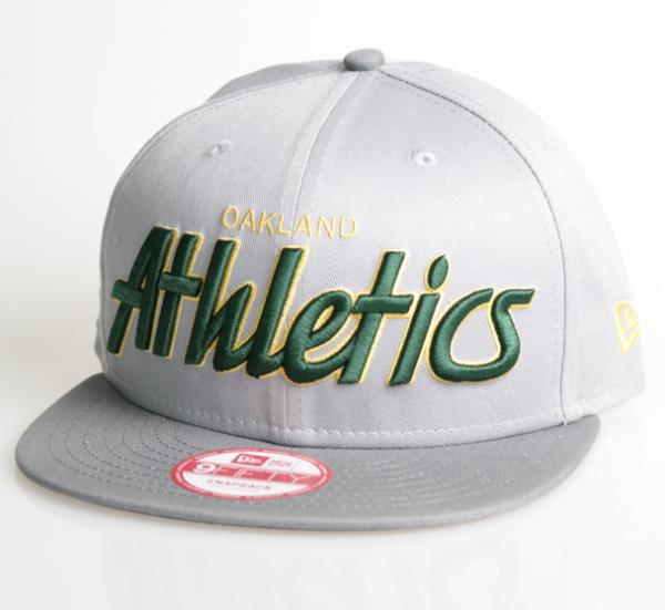 New Era Cap 9-Fifty Snapback Oakland Athletics Team Script grey