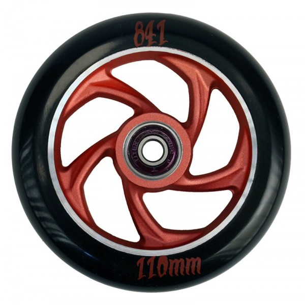 841 Scooter Wheels 5-Star 110mm red incl. Titen Abec 9