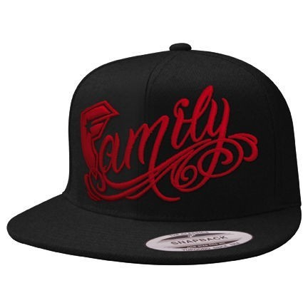 Famous Cap Official Family Snapback black/red